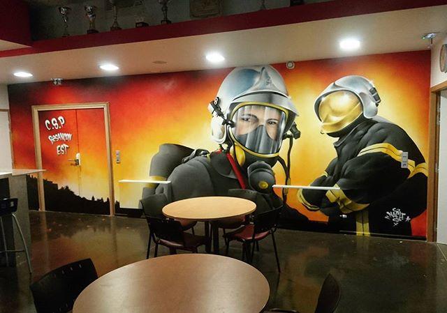 Deco pour les pompiers du C.S.P de Besancon EST