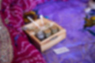 Lady Rinn displays cosmetics at Yule Toy