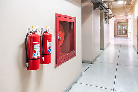 fire-extinguisher-system-wall-background