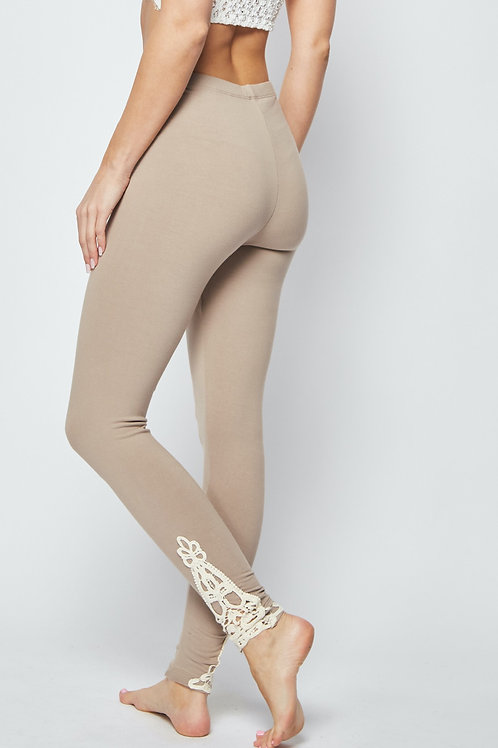 ANKLE CROCHET PATCH LEGGINGS