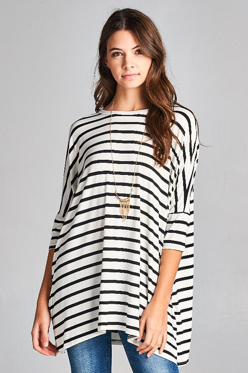 STRIPED PIKO TUNIC