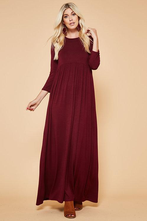 LOOSE 3/4 MAXI DRESS