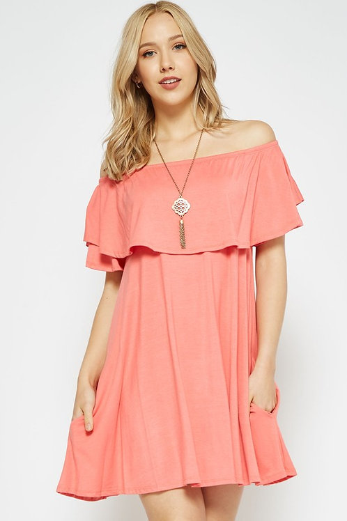 MONIQUE OFF SHOULDER DRESS