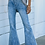 Thumbnail: BLUE HIGH RISE FLARE JEANS