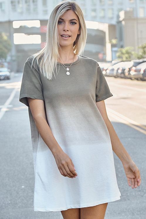 RHEA OLIVE OMBRE DRESS
