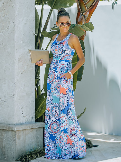 THIS IS THE FLORAL PRINT MAXI DRESS