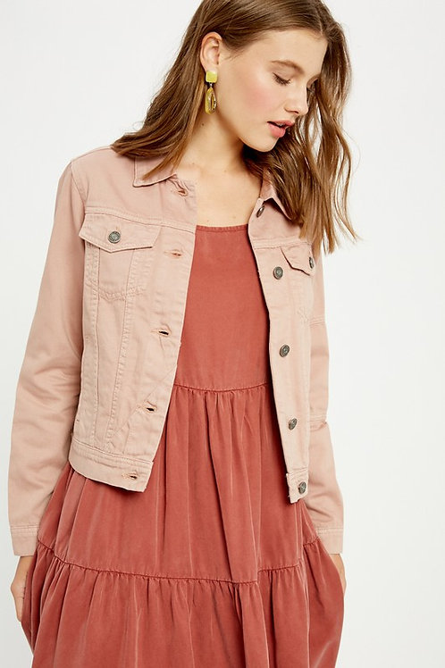 BUTTON FRONT COLOR JACKET