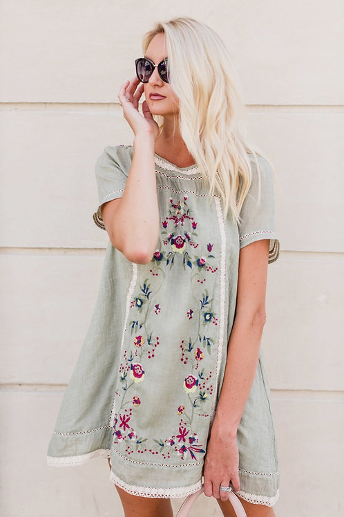 VERA EMBROIDERED DRESS