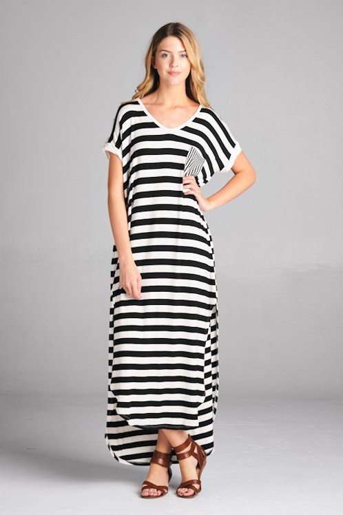 VACATION STRIPE DRESS