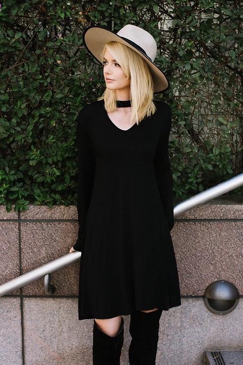 KEYHOLE SWING DRESS