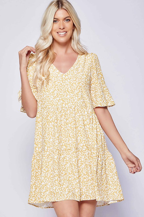 MARYGOLD LEOPARD BABY DOLL DRESS