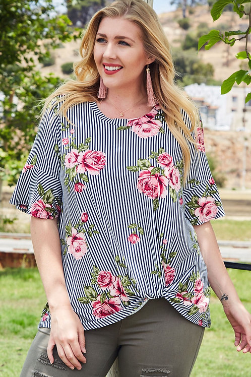 AUBREE SIDE KNOT TOP