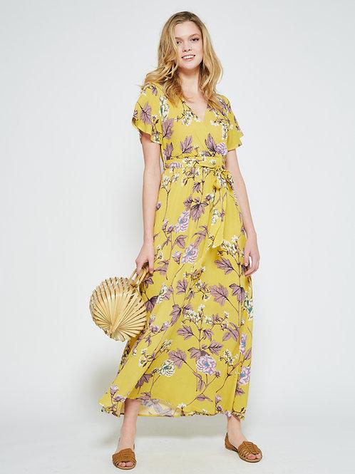 FLORAL PARALLEL MAXI DRESS