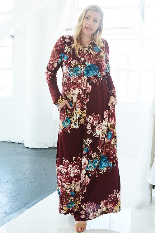 DESERT FLOWER MAXI DRESS