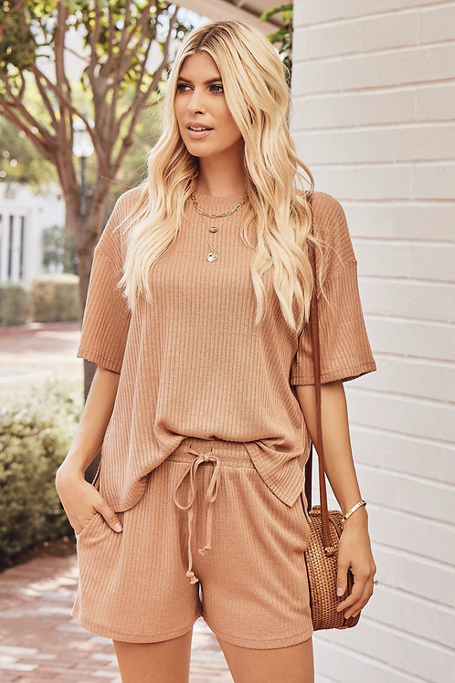 RIBBED CASUAL 2 PIECE SET