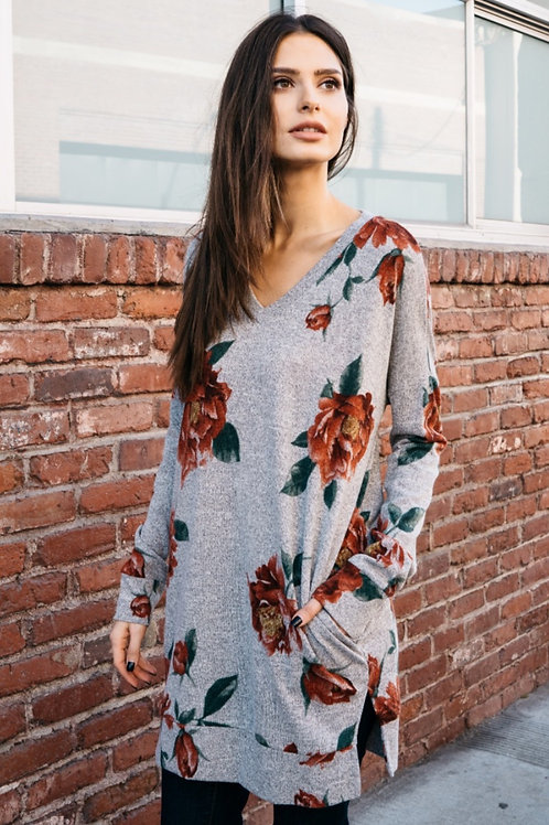 FLORAL POCKET TUNIC