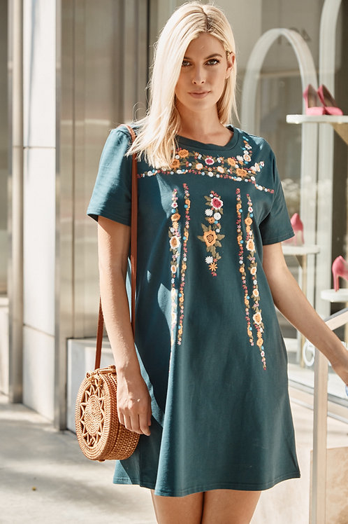 IVA EMBROIDERED DRESS