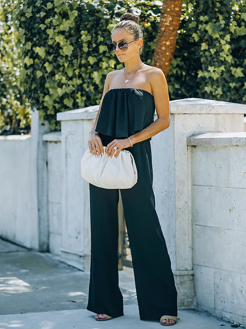 STRAPLESS POCKETED JUMPSUIT