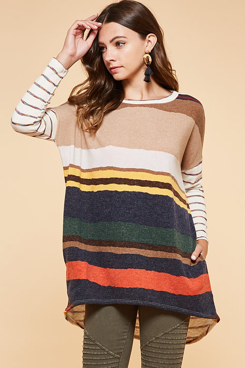 FALL COLOR PALLET SWEATER TOP