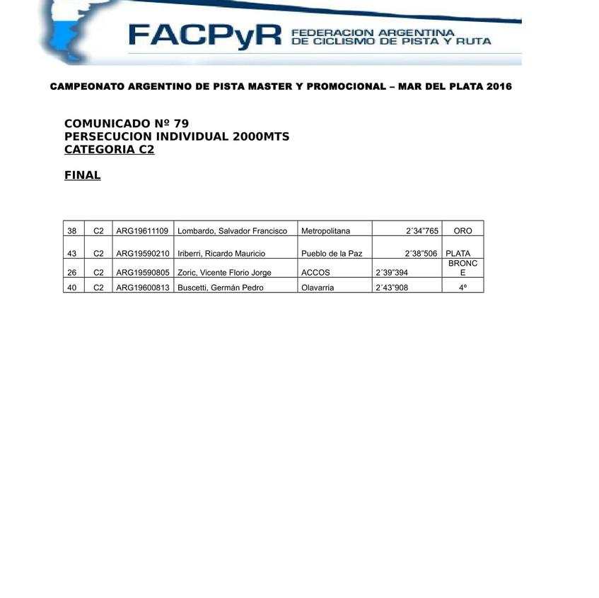 COMUNICADO 79 FINAL PERSECUCION C2-1