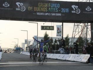 Federico Vivas repitió en la Gran Fondo de Buenos Aires