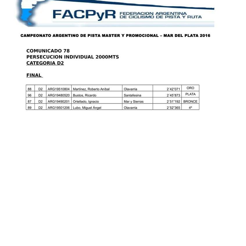 COMUNICADO 78 FINAL PERSECUCION D2-1