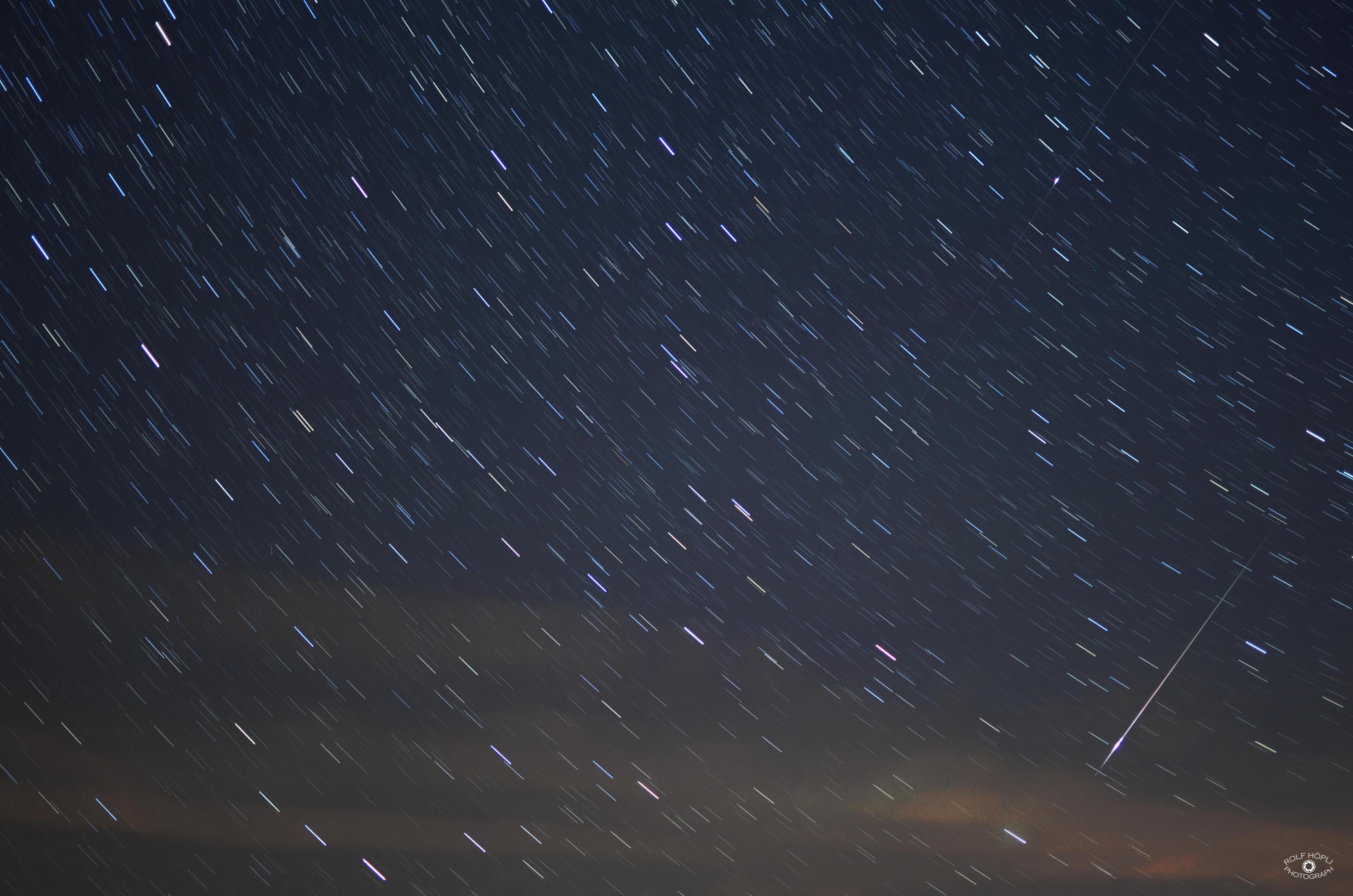 Perseiden Meteor plus Iridium 57 Flare_2