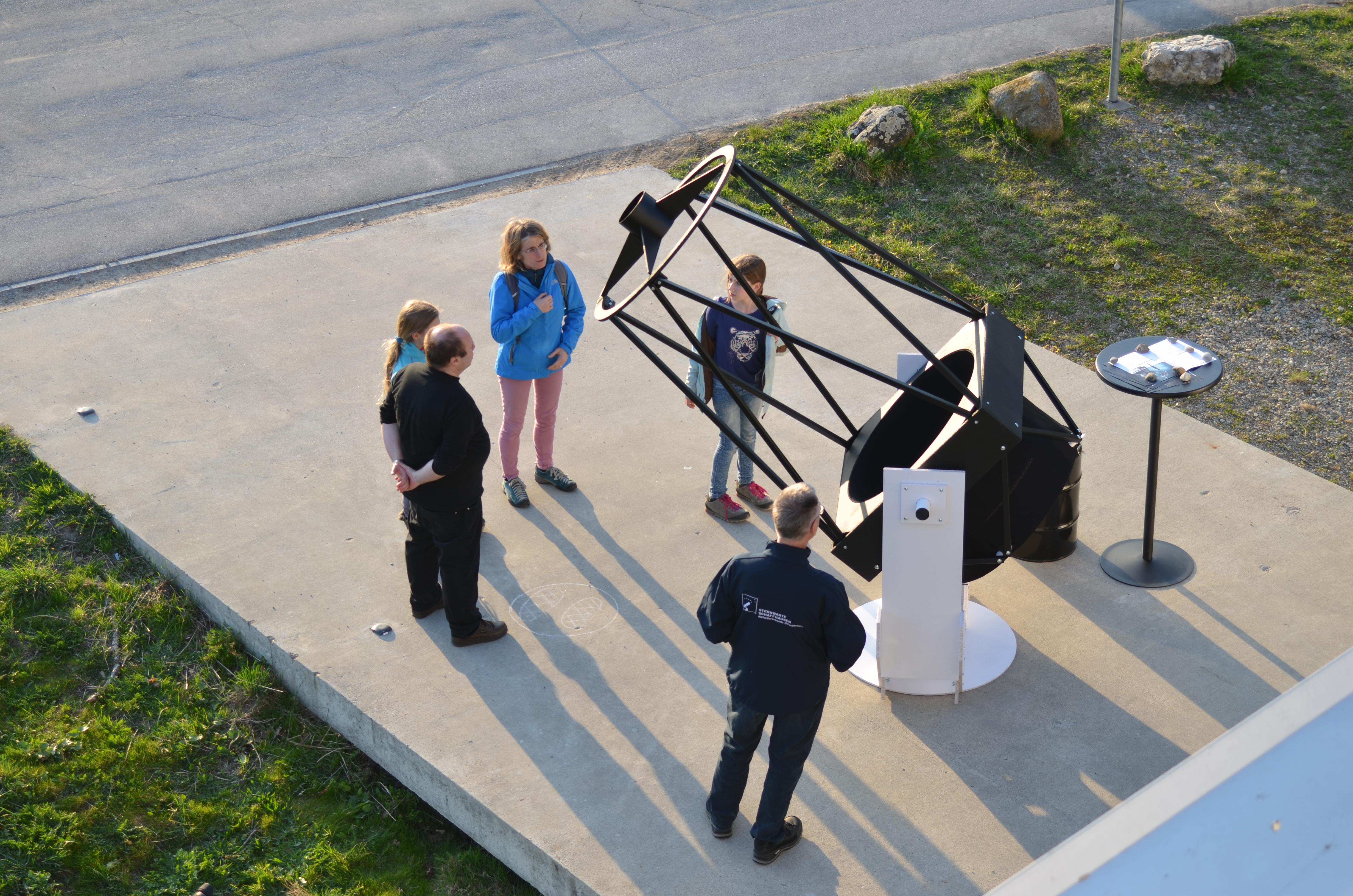 Das Teleskopmodell von oben