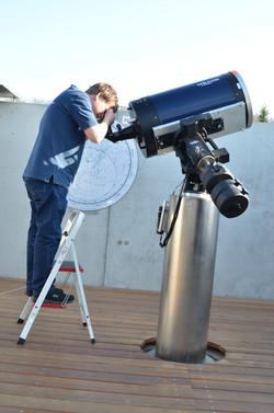 Arbeit am Teleskop