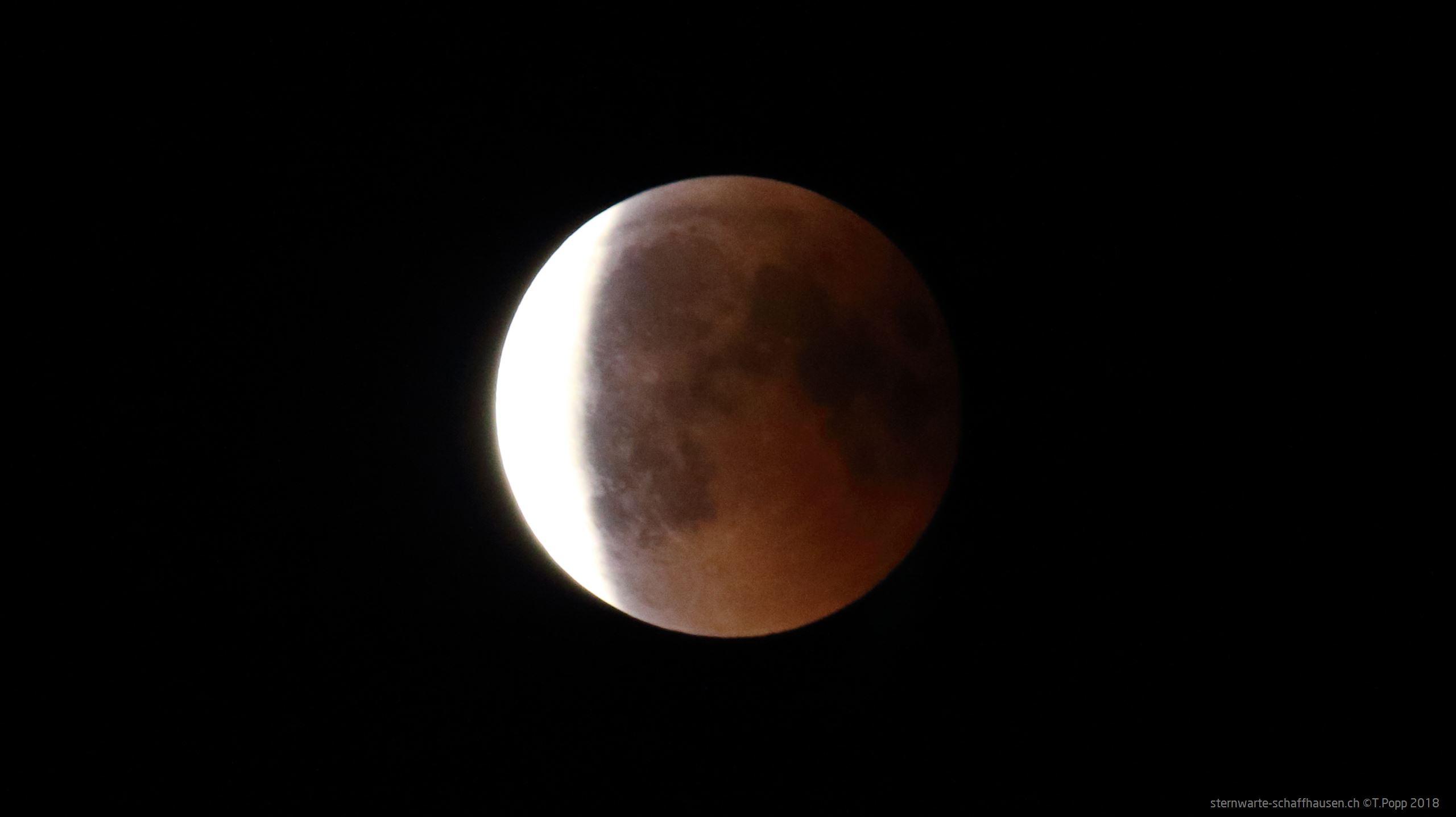 Abnehmende Mondfinsternis