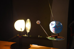 Die Mondphasen anhand des Modells