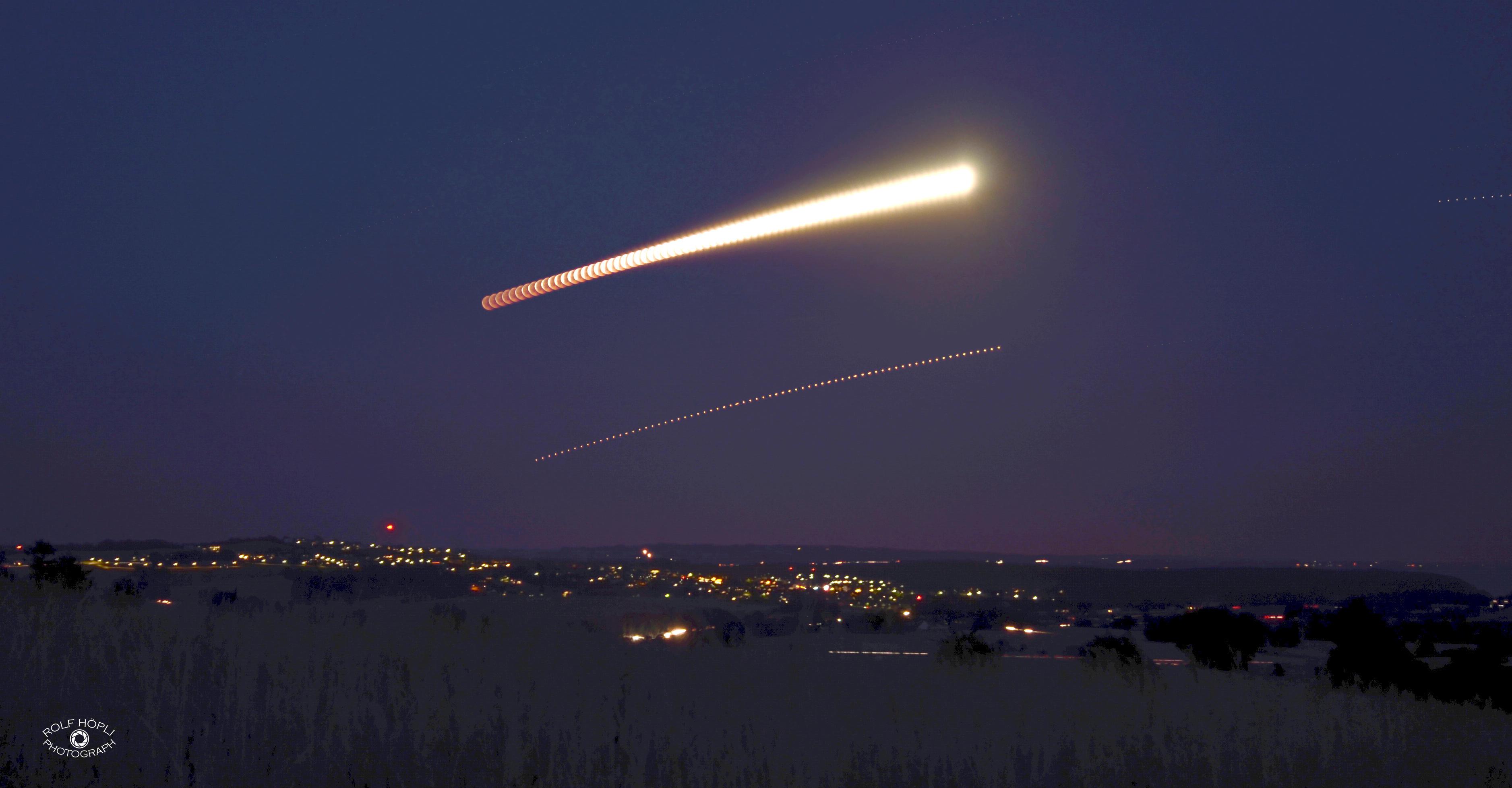 Zeitraffer Mondfinsternis und Mars