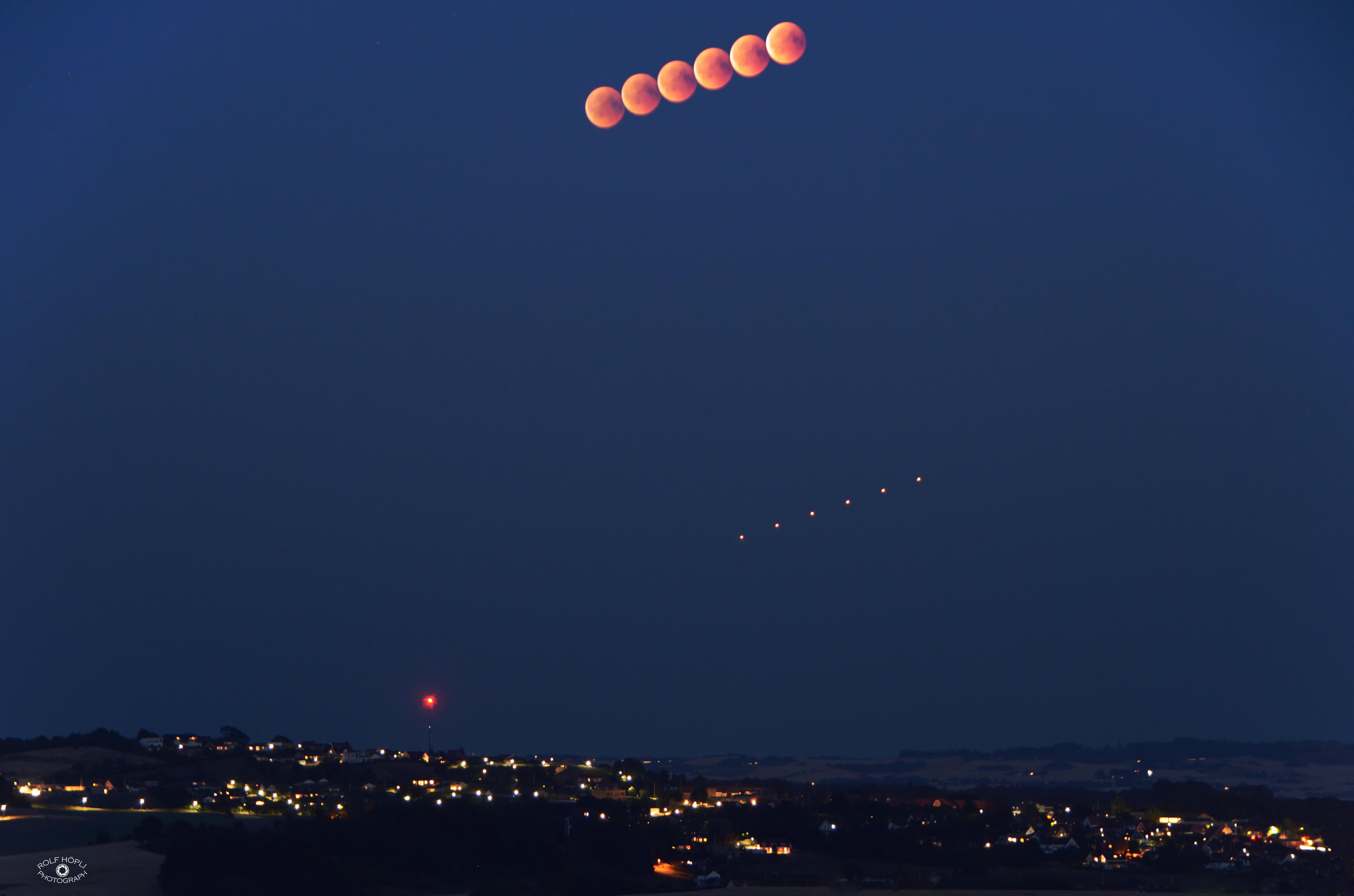 Zeitraffer Mondfinsternis
