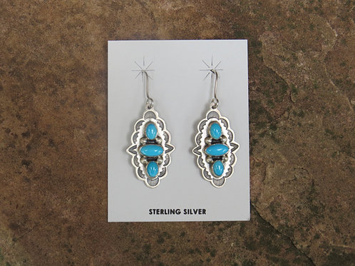 3 stone turquoise earrings by Don Lucas