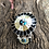 Thumbnail: Zuni sunface bracelet with gold mother of pearl, black onyx and turquoise inlay.