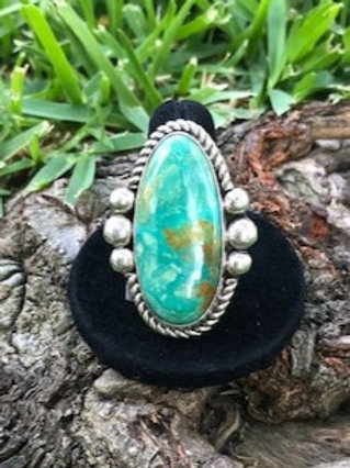 Turquoise ring size 9.5 - 42R