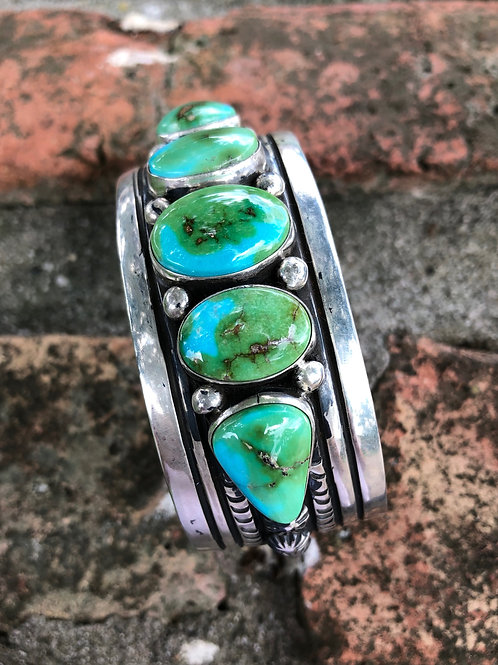 Sold- Sonoran gold turquoise cuff #35 $700.