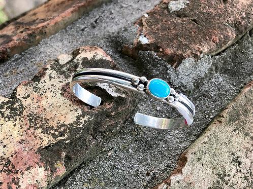 Single stone turquoise cuff #3