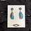 Thumbnail: Turquoise earrings set into sterling silver Navajo craftsmanship, signed RB