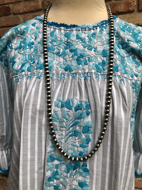"""36"""" Navajo Pearl necklace, 8mm beads."""