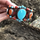 Thumbnail: Beautiful hand woven band with Turquoise & orange spiny stones.