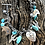 Thumbnail: Multi-stone charm bracelet with cacti, bears and heart pendant