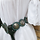Thumbnail: Lady Liberty Dollar concho belt with turquoise stones, signed L. James