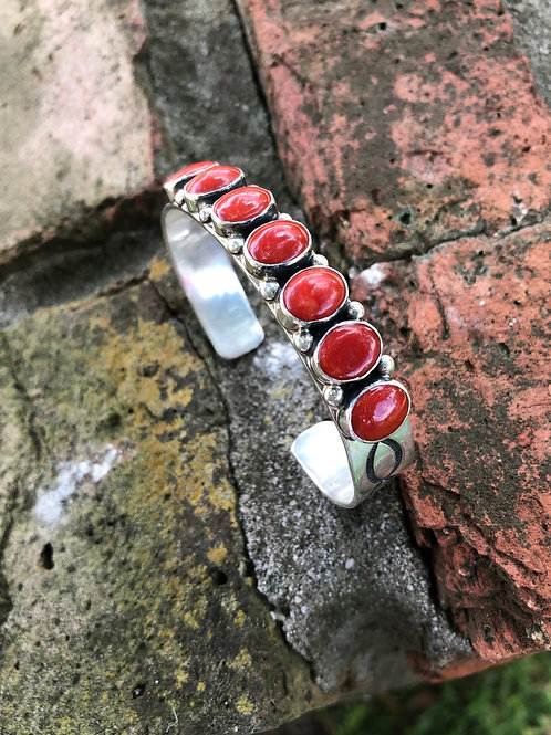 Red coral cuff #11