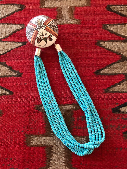 Five strand turquoise necklace 2N
