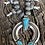 Thumbnail: Vintage Squash Blossom with turquoise stones and hand made silver beads