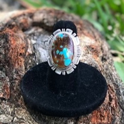 Turquoise ring size 6.5 - 9R