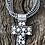 Thumbnail: Beautiful sterling silver cross & fresh water pearl pendant by A. Douglas
