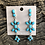 Thumbnail: Turquoise cluster dangles set in sterling silverby Anna Spencer, Navajo