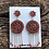 Thumbnail: Zuni red coral petit point earrings with dangles